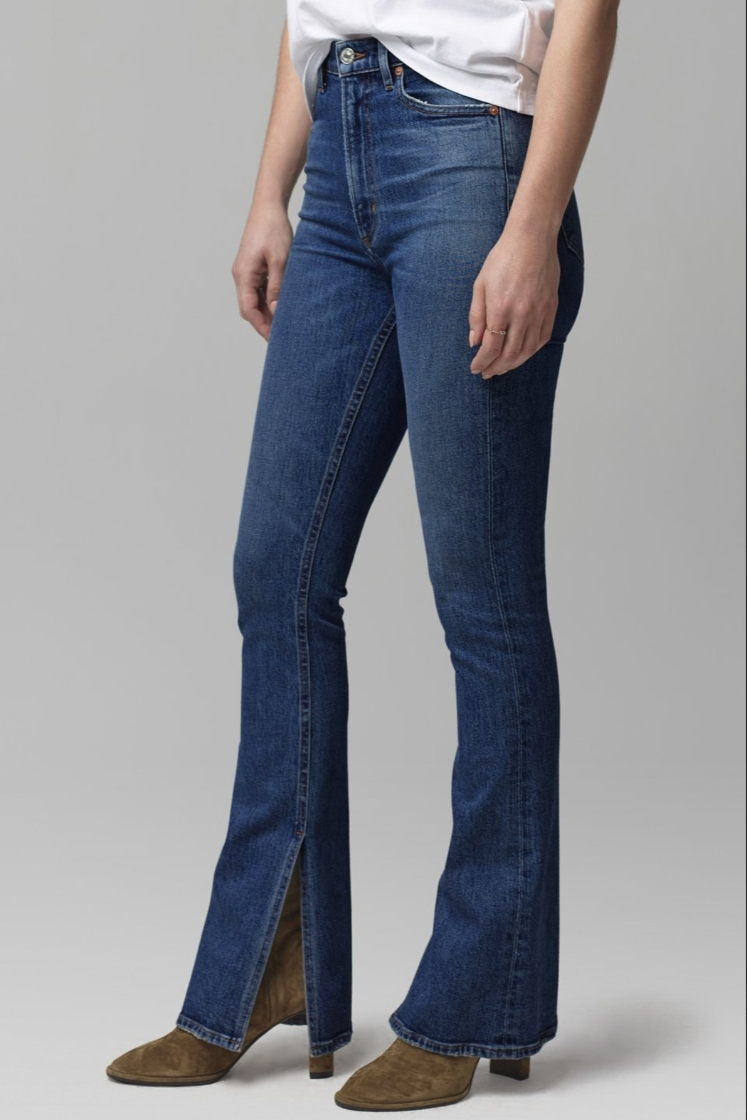 Citizens of Humanity Georgia Flare Jeans in Heist - Front Full Image