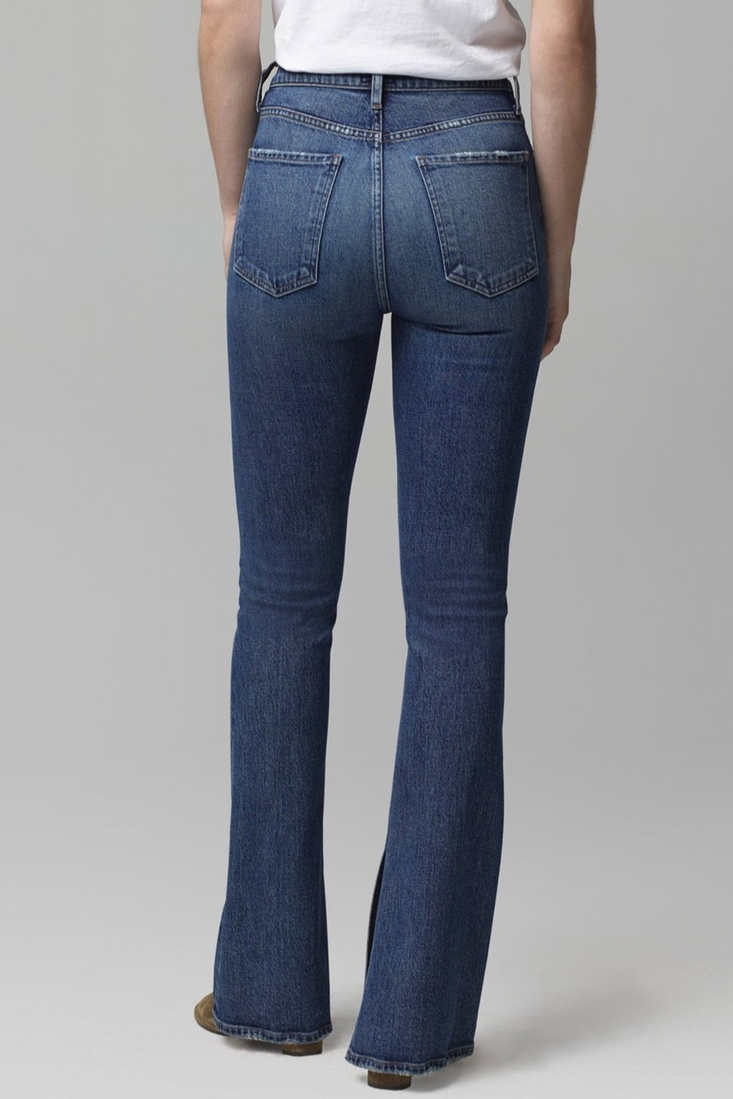 Citizens of Humanity Georgia Flare Jeans in Heist - Side Cropped Image