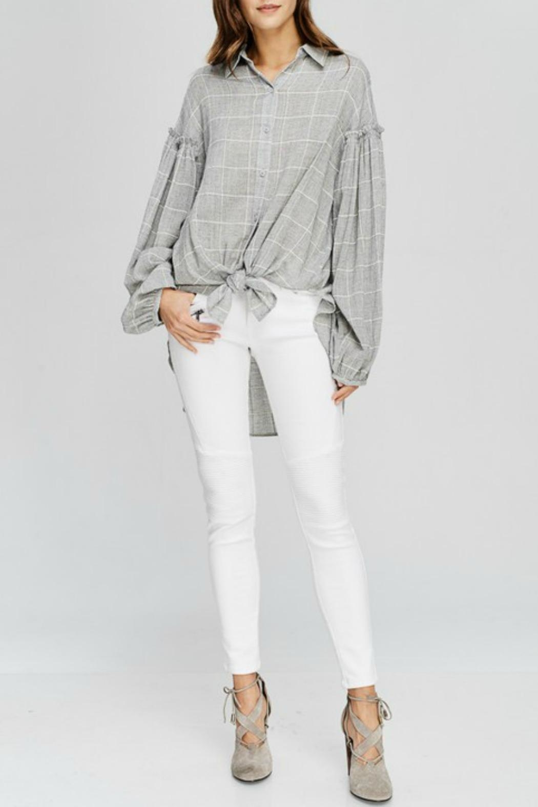 Wishlist Georgia Plaid Top - Main Image