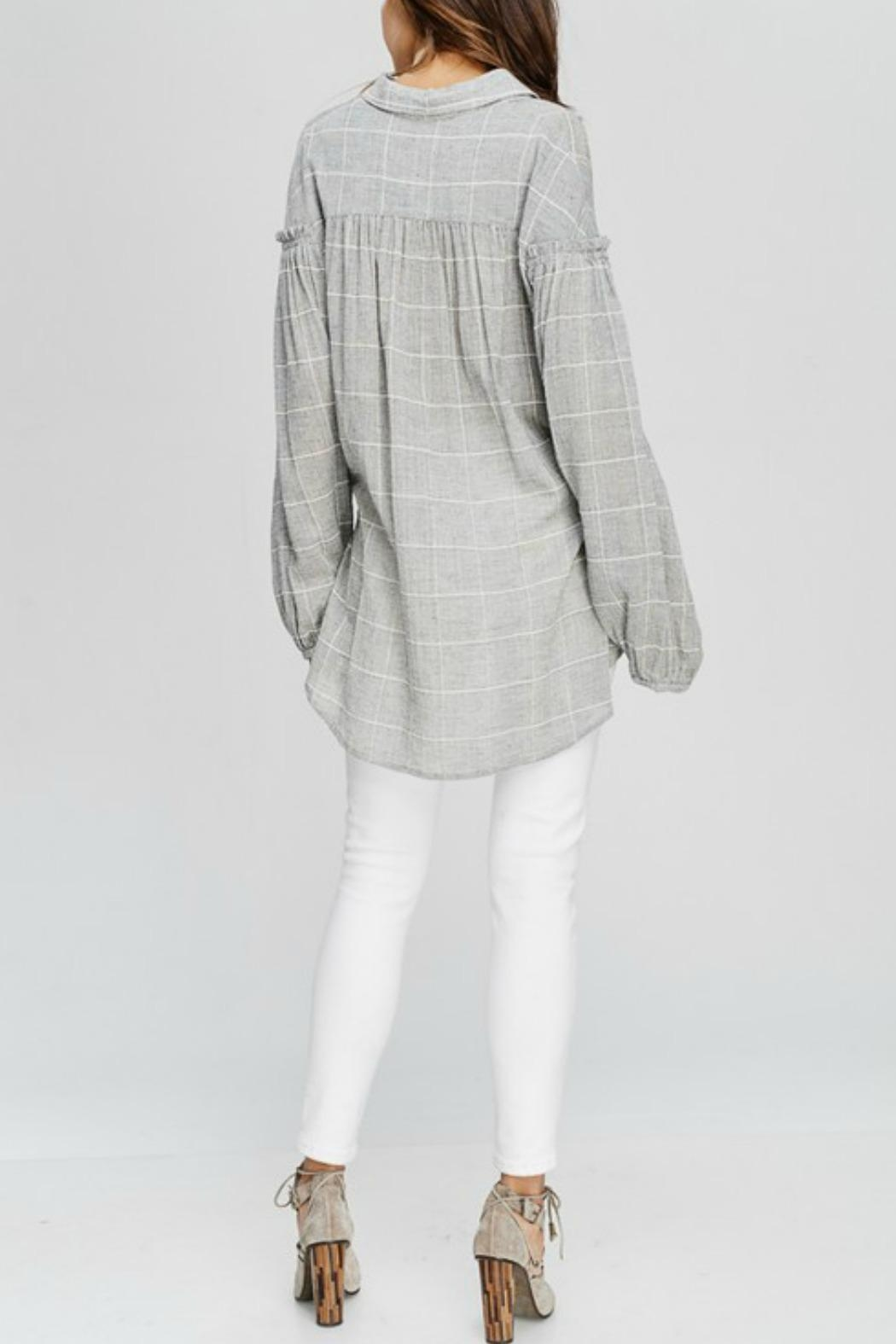 Wishlist Georgia Plaid Top - Front Full Image