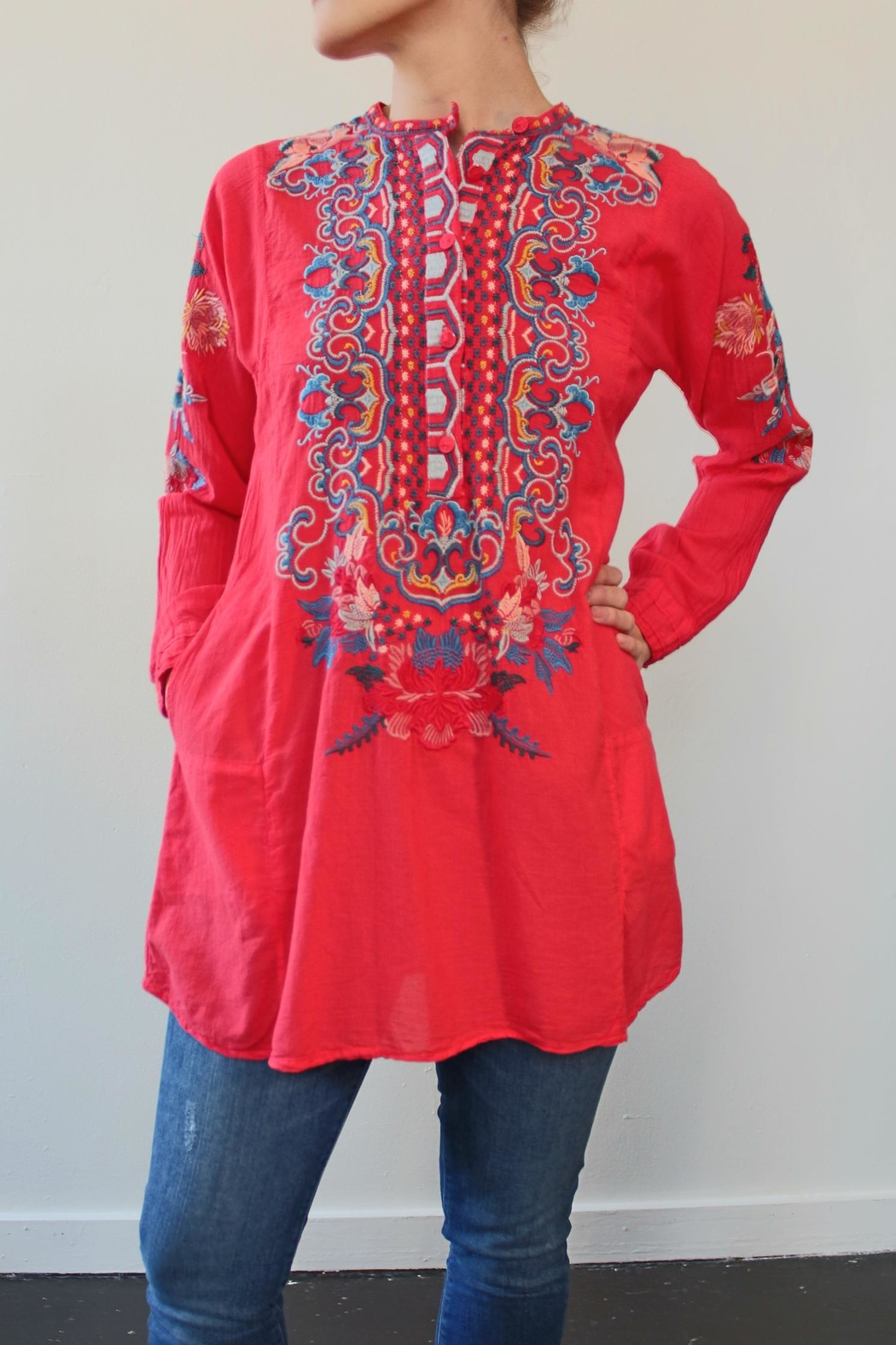 Biya by Johnny Was Georgina Cotton Tunic - Main Image