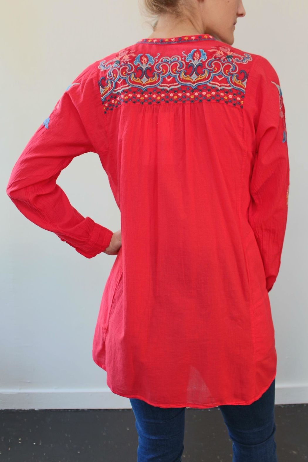 Biya by Johnny Was Georgina Cotton Tunic - Front Full Image