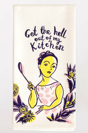 Blue Q Dish Towel Get The Hell Out Of My Kitchen - Product Mini Image