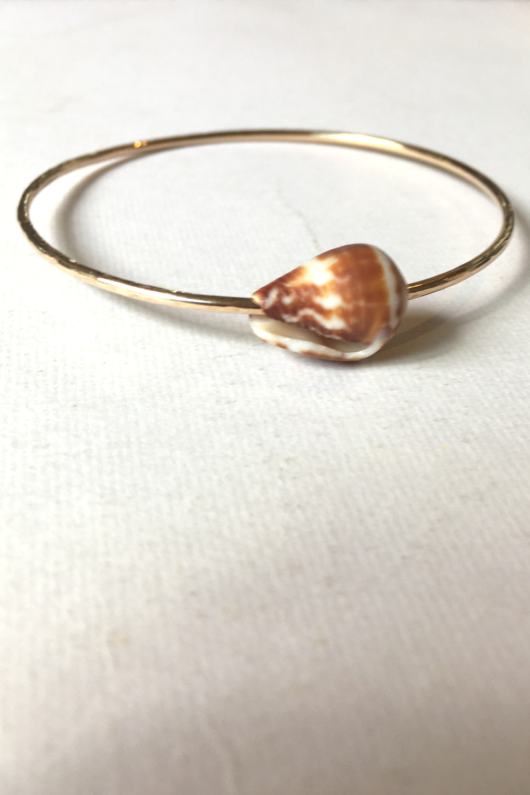Maui Ocean Jewelry GF Thick bangle with Shell - Front Cropped Image