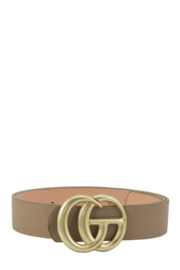 Illord GG Worn Gold Buckle - Front cropped