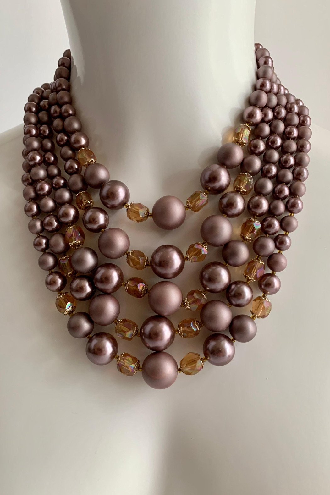 GHome2 1950's 5 Strand Necklace - Front Full Image