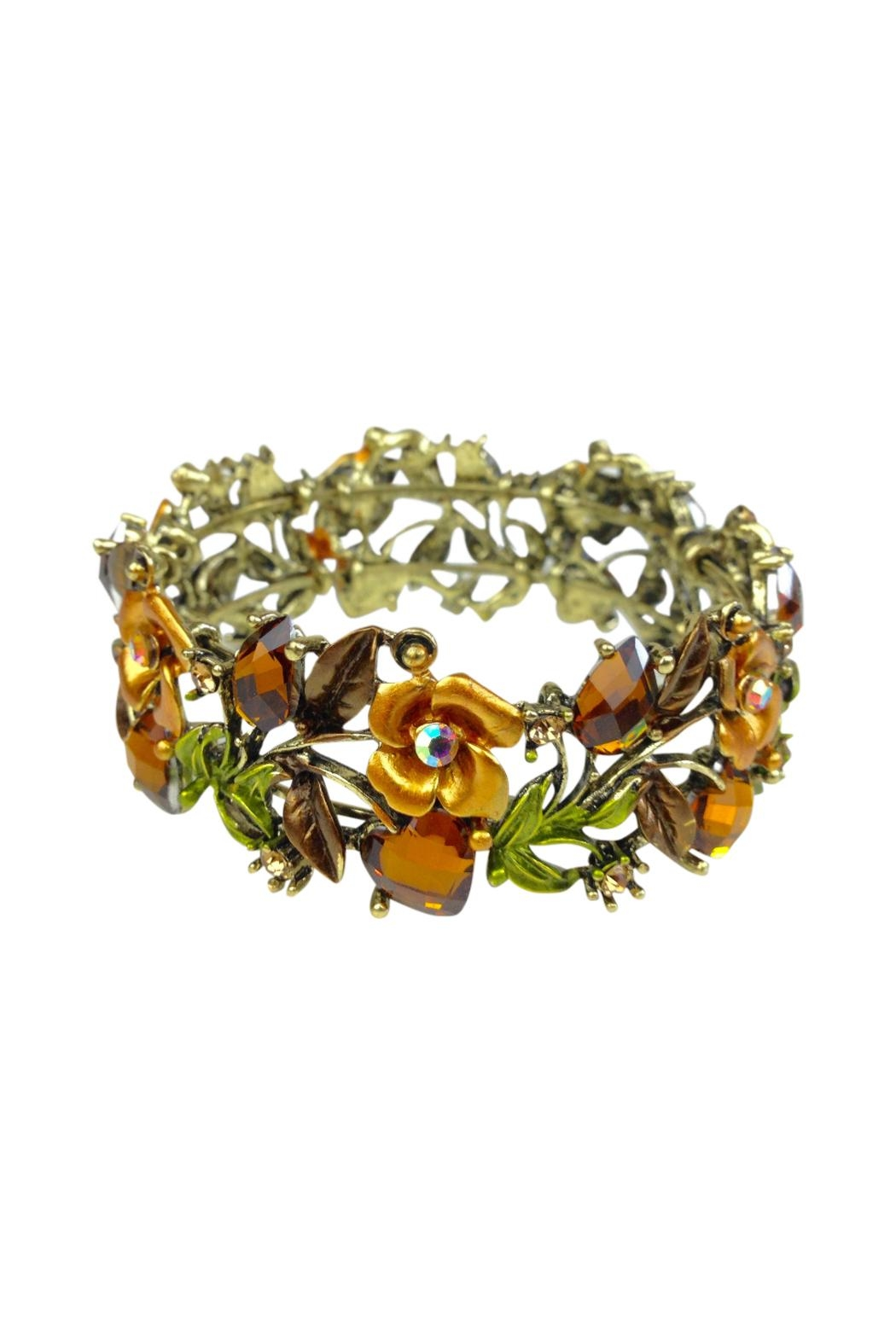 GHome2 Amber Crystal Cuff - Front Full Image