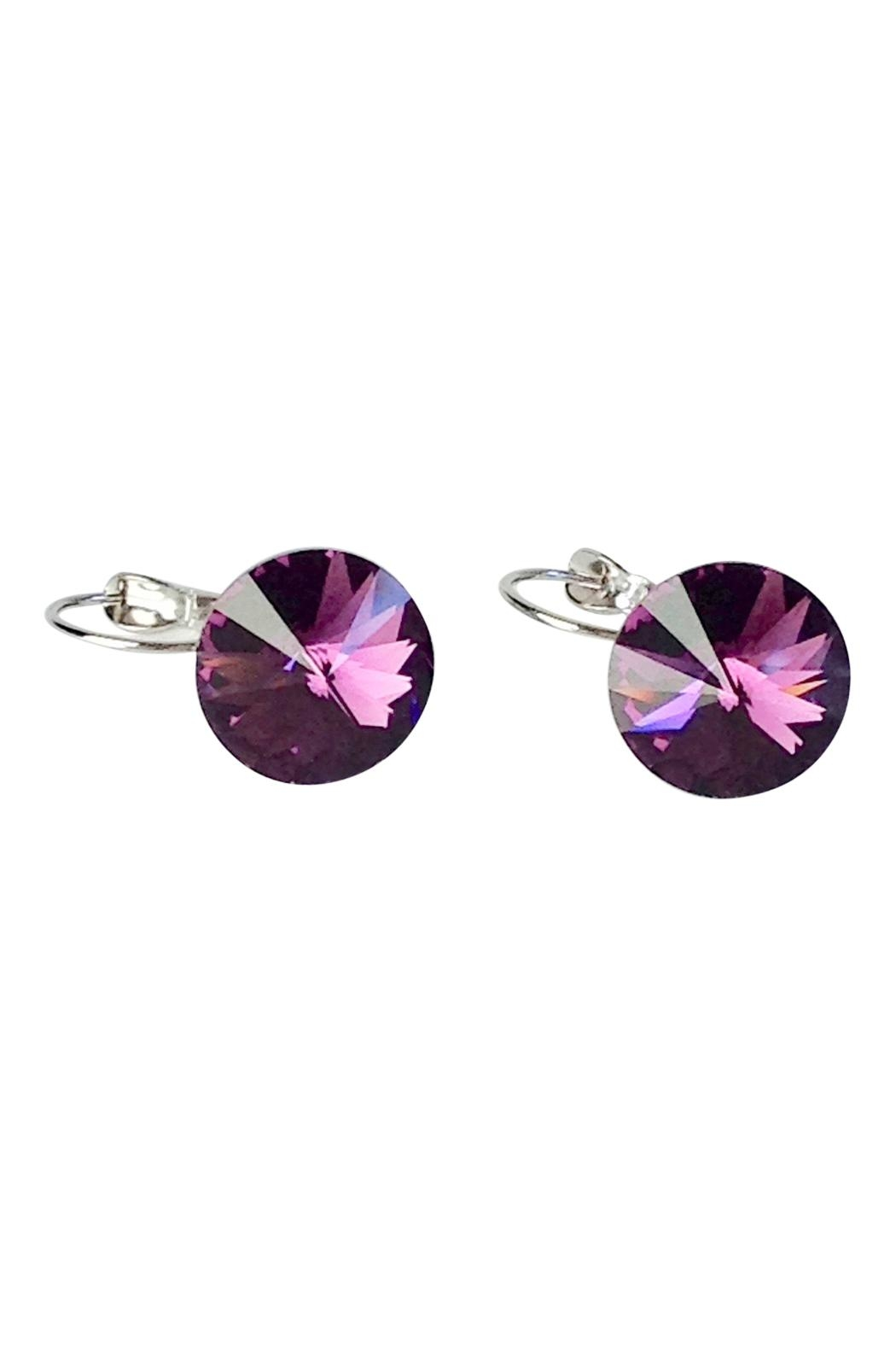 GHome2 Amethyst Swarovski Earrings from Minneapolis by Go