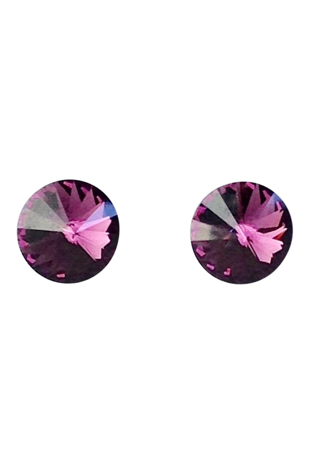 GHome2 Amethyst Swarovski Earrings - Main Image