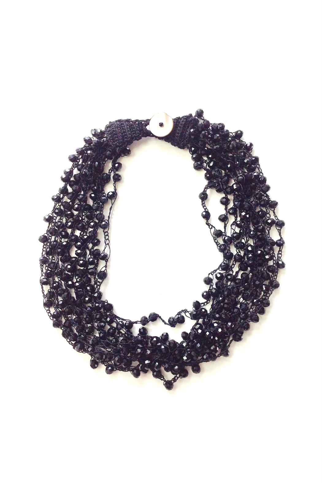 GHome2 Black Beaded Choker - Front Cropped Image