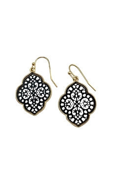 GHome2 Black & Gold Moroccan Earrings - Product List Image