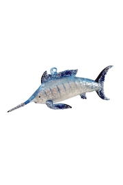 GHome2 Blue Marlin Ornament - Front cropped
