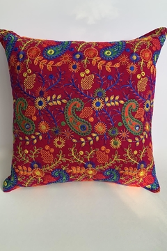 GHome2 Boho-Moroccan Cranberry Pillow - Product List Image