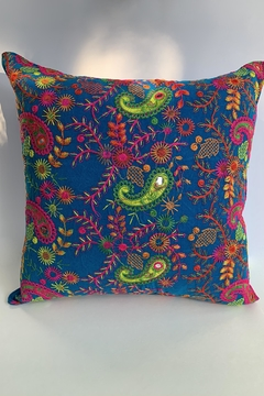 GHome2 Boho-Moroccan Blue Pillow - Product List Image