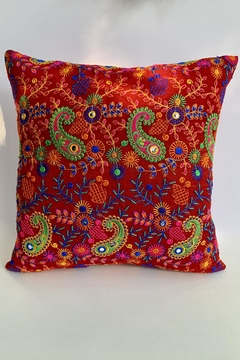GHome2 Boho-Moroccan Red Pillow - Product List Image