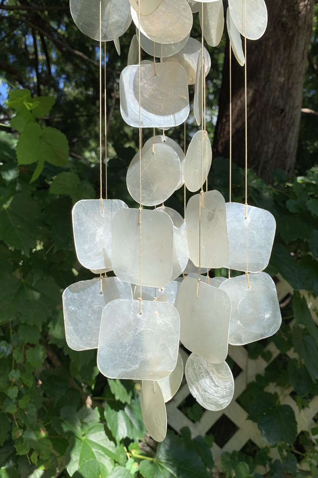 GHome2 Capiz Wind Chime - Front Full Image