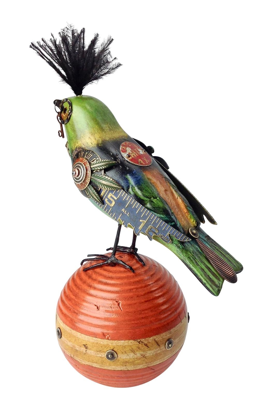 GHome2 Carved Bird Sculpture - Front Full Image