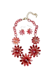 GHome2 Celluloid Flower Necklace - Front cropped