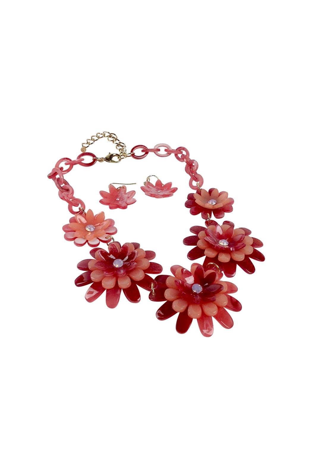 GHome2 Celluloid Flower Necklace - Front Full Image