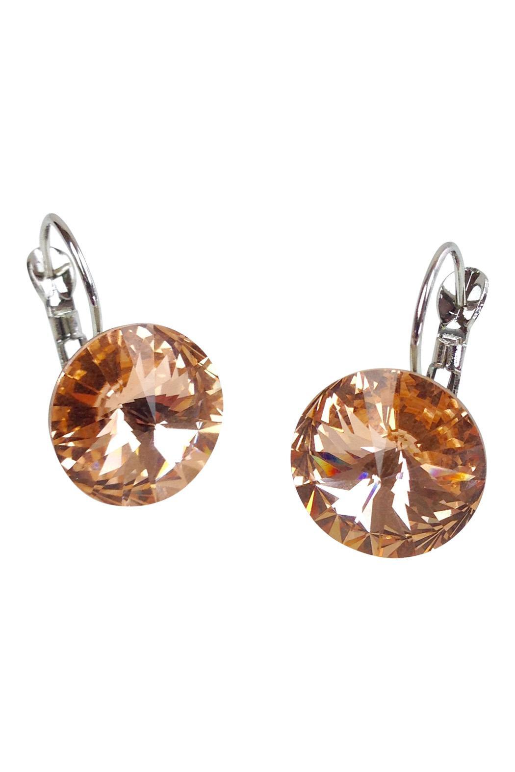 GHome2 Citrine Swarovski Earrings - Main Image