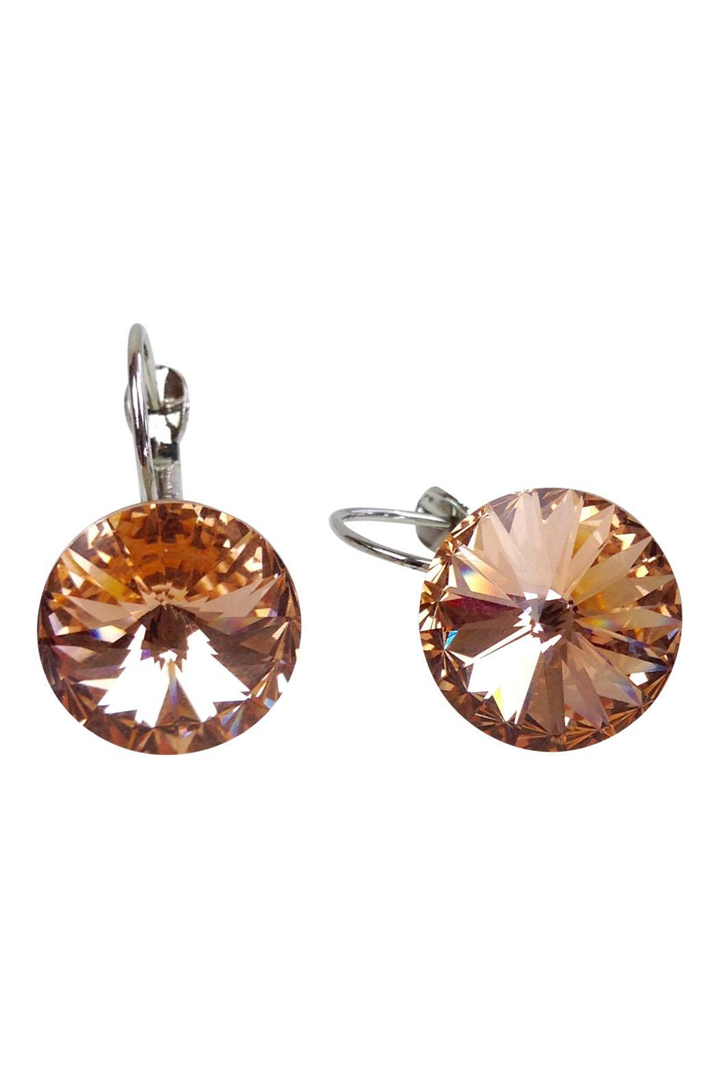 GHome2 Citrine Swarovski Earrings - Front Full Image