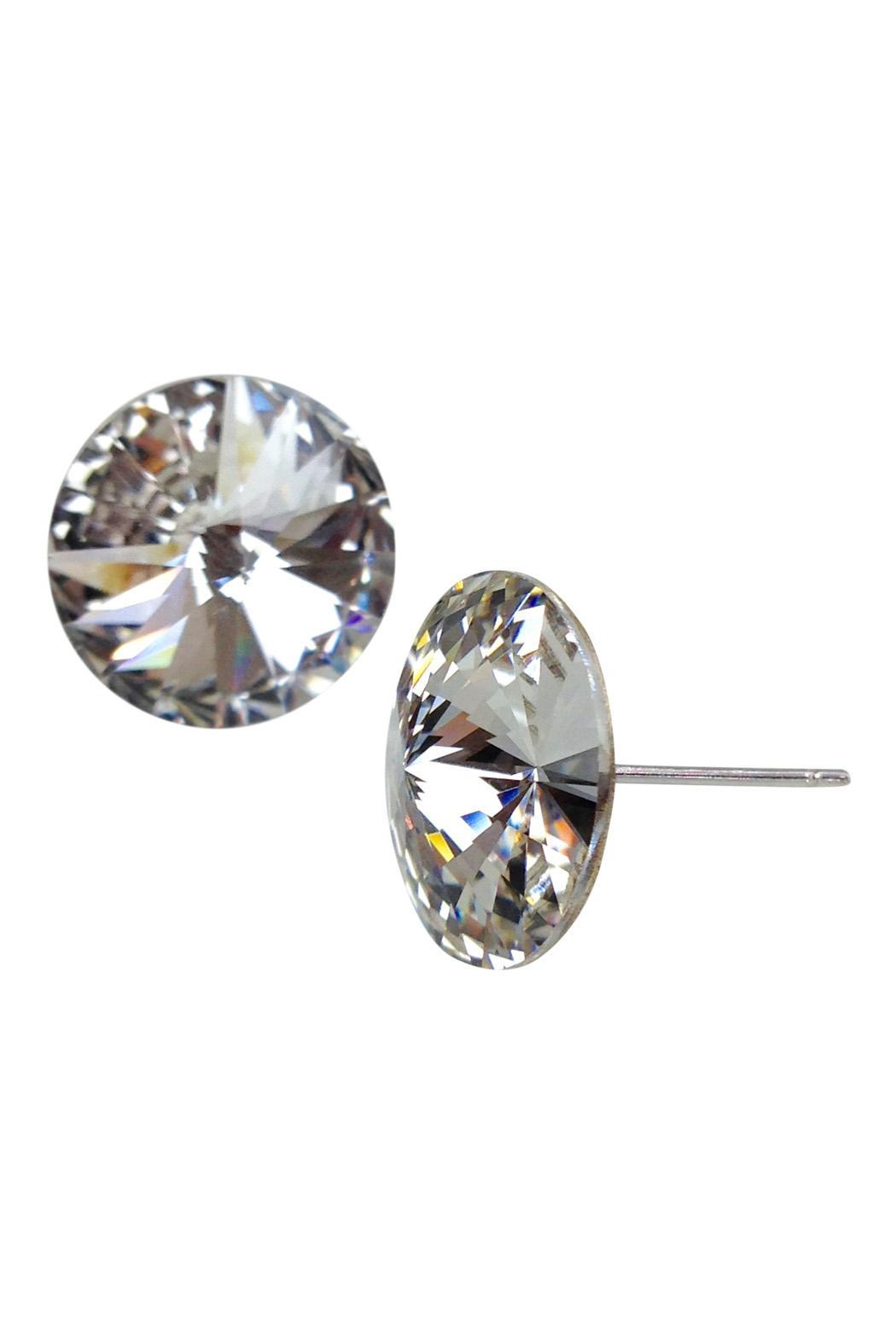 GHome2 Clear Swarovski Earrings - Front Full Image