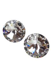 GHome2 Clear Swarovski Earrings - Front cropped