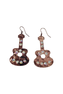 GHome2 Copper Guitar Earrings - Alternate List Image