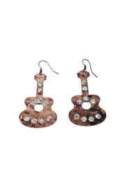 GHome2 Copper Guitar Earrings - Product Mini Image