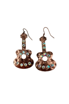 GHome2 Copper Guitar Earrings - Product List Image