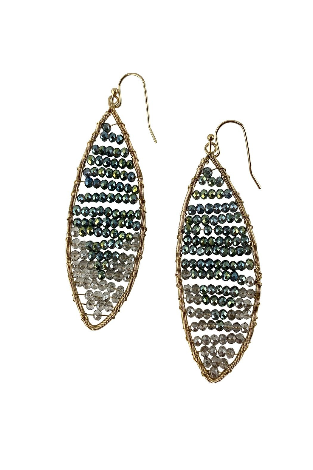 GHome2 Crystal Hand-Wired Earrings - Front Full Image