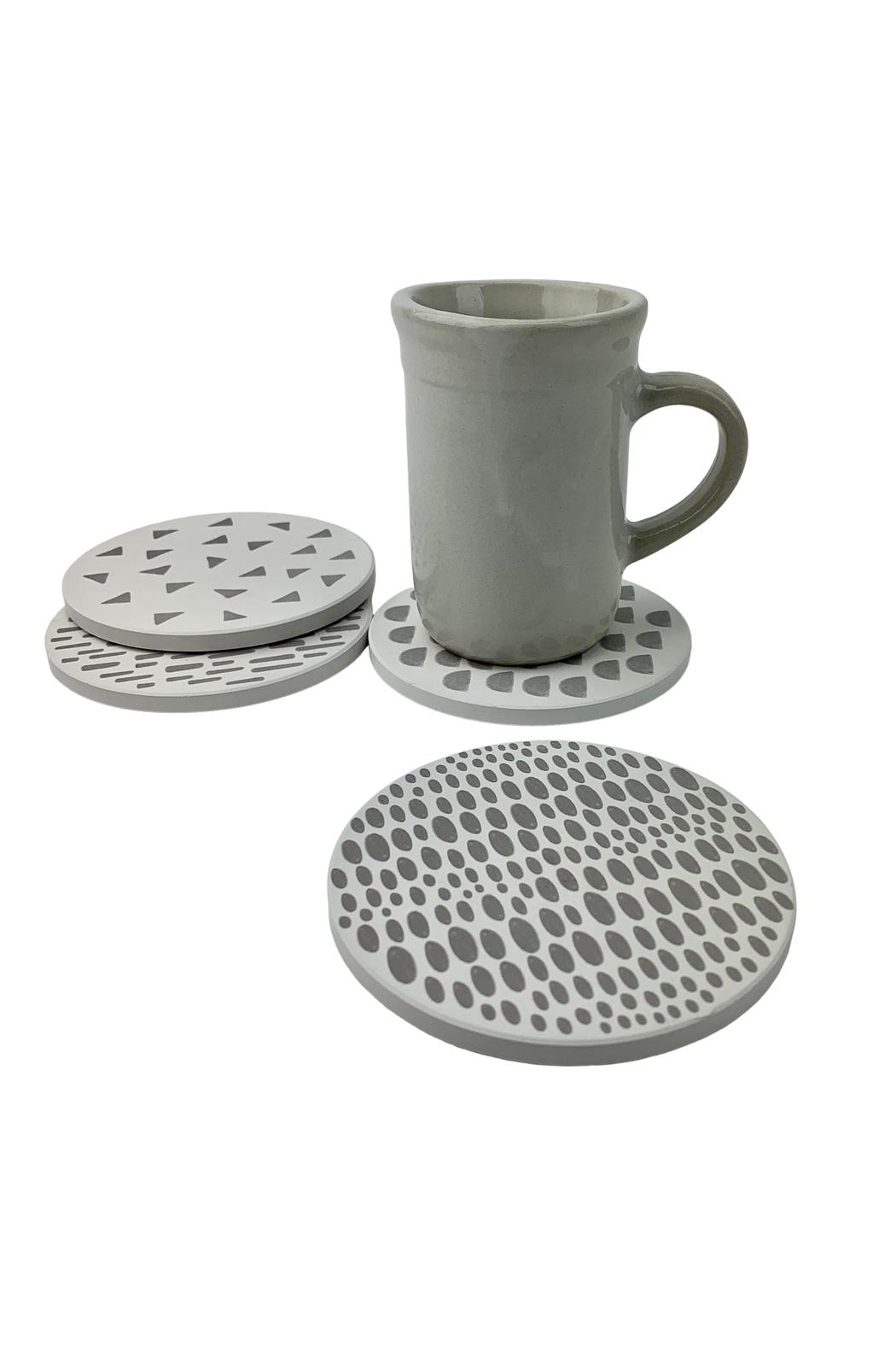 GHome2 Dot Ceramic Coasters - Side Cropped Image