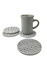 GHome2 Dot Ceramic Coasters - Side cropped