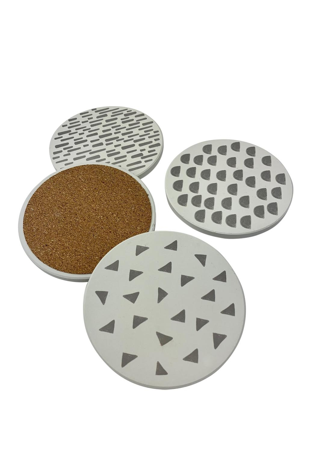 GHome2 Dot Ceramic Coasters - Front Full Image