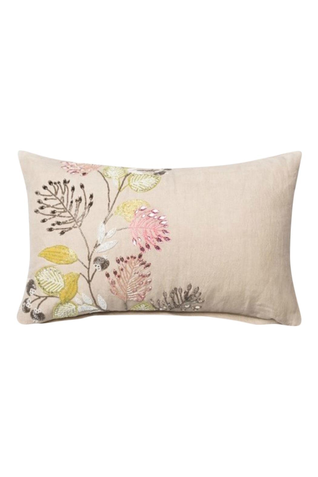 GHome2 Embroidered Jeweled Pillow - Main Image