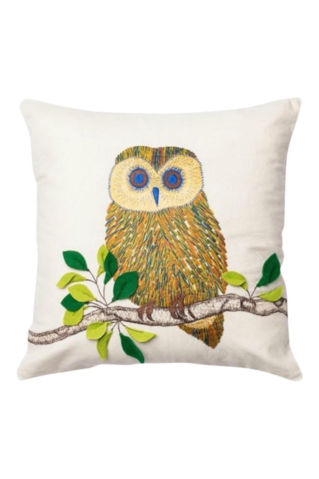 GHome2 Embroidered Owl Pillow - Main Image