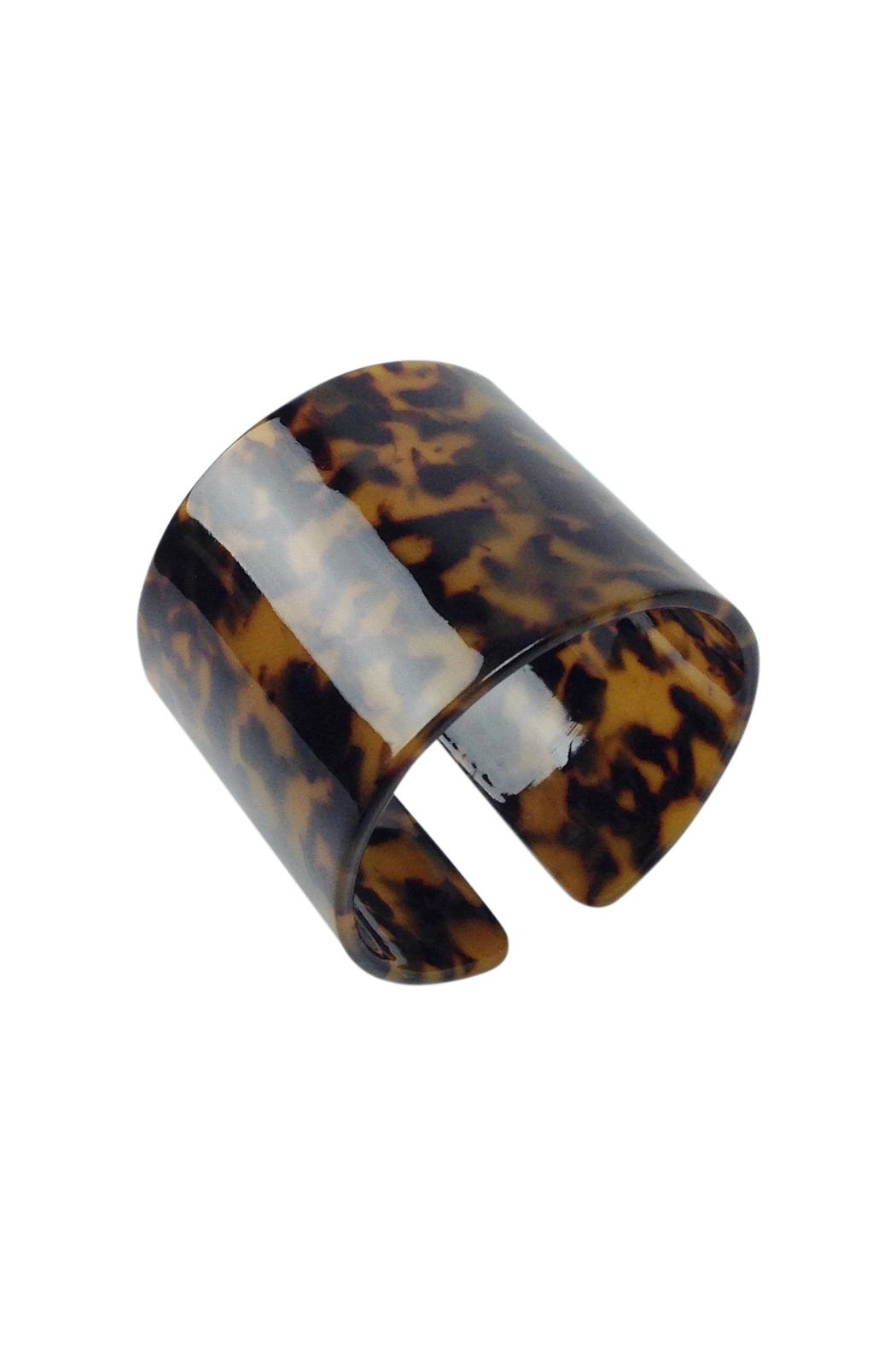 GHome2 Faux Tortoise Cuff - Front Cropped Image