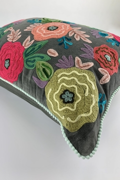 GHome2 Floral Embroidered Pillow - Alternate List Image