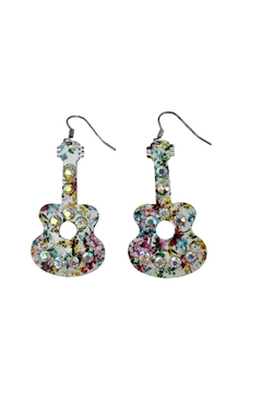 GHome2 Floral Guitar Earrings - Product List Image