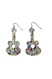 GHome2 Floral Guitar Earrings - Product Mini Image
