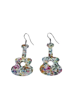 GHome2 Floral Guitar Earrings - Alternate List Image