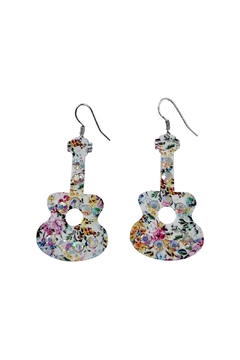 Shoptiques Product: Floral Guitar Earrings