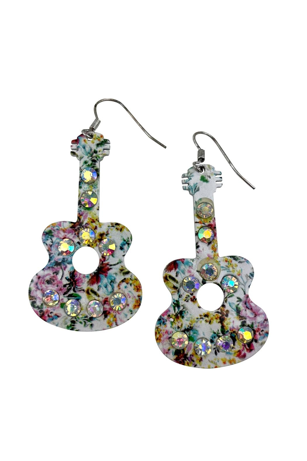 GHome2 Floral Guitar Earrings - Side Cropped Image