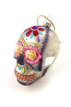 Shoptiques Product: Flower Skull Ornament