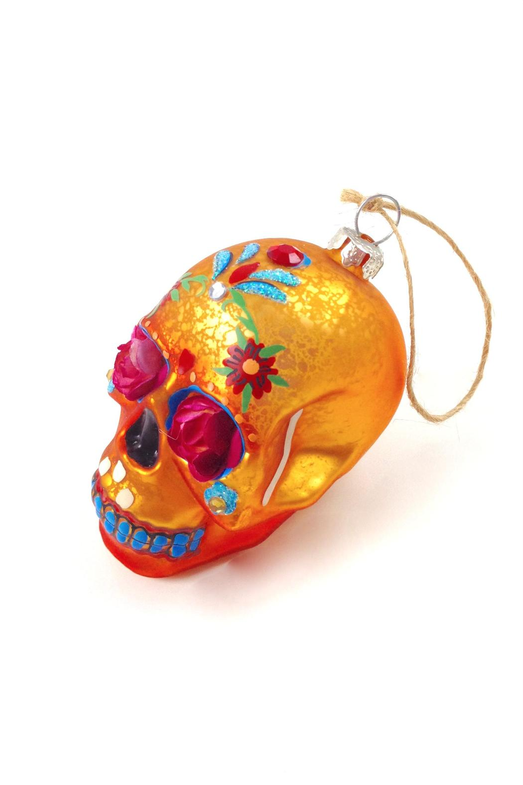 GHome2 Flower Skull Ornament - Front Cropped Image