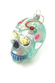 GHome2 Flower Skull Ornament - Front cropped