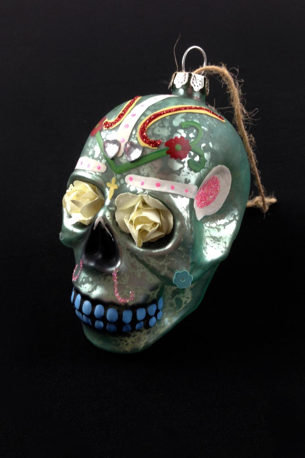 GHome2 Flower Skull Ornament - Front Full Image