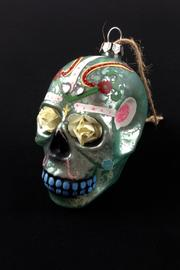 GHome2 Flower Skull Ornament - Front full body