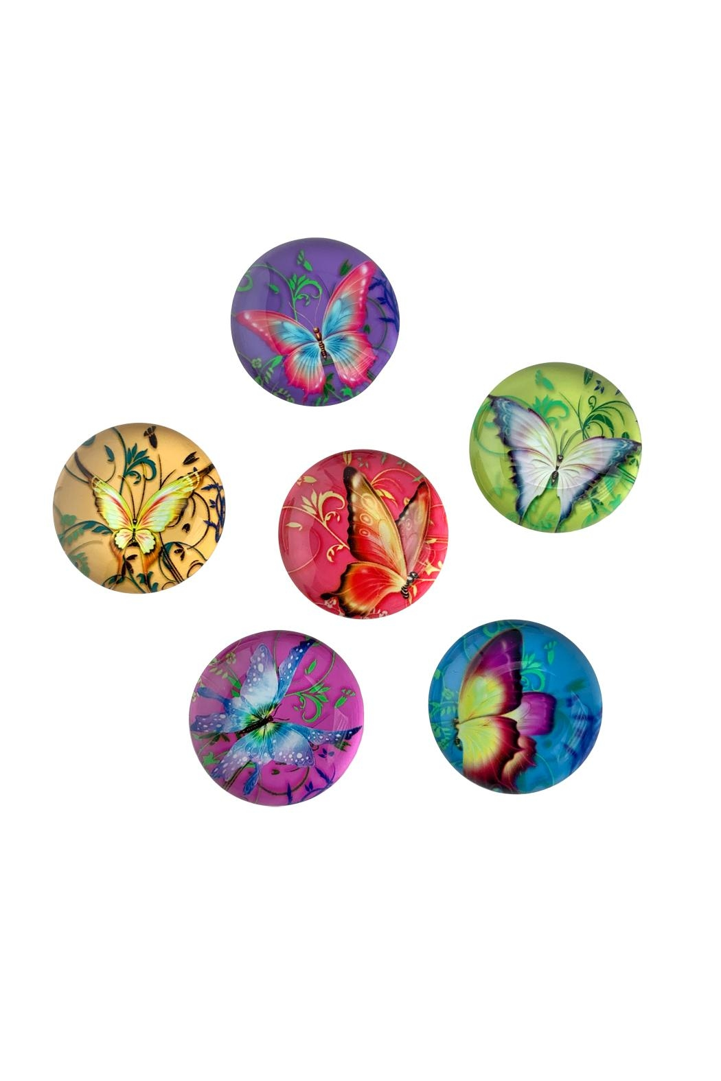 GHome2 Glass Butterfly Magnets - Front Full Image
