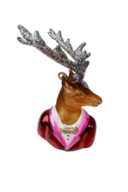 GHome2 Glass Deer Ornament - Product Mini Image